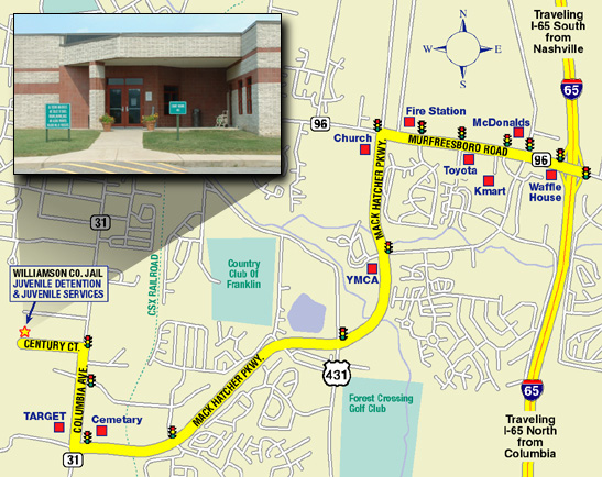 Juvenile Court & Services Map