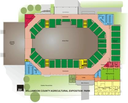 Main Arena floor plan