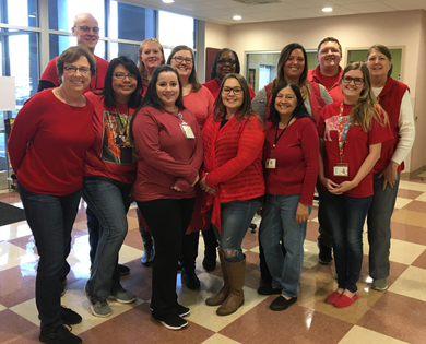STAFF WEAR RED DAY SMALL